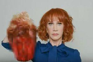 血塗られたトランプ大統領の生首画像に非難が集中、米コメディアンが謝罪