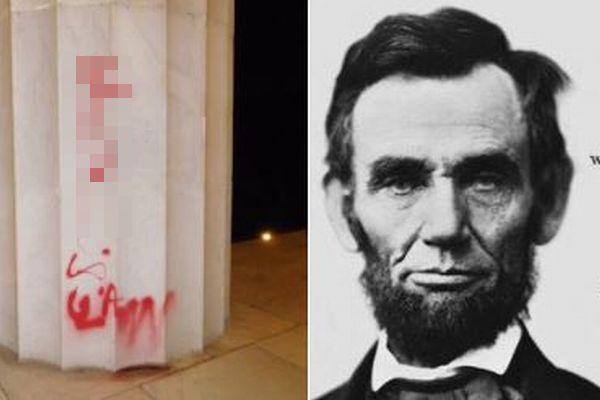 奴隷解放への抗議か?リンカーン記念館に「法をののしる」落書きが見つかる