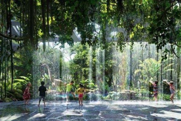 砂漠に囲まれたドバイで、熱帯雨林を再現した5つ星のホテルが建設中