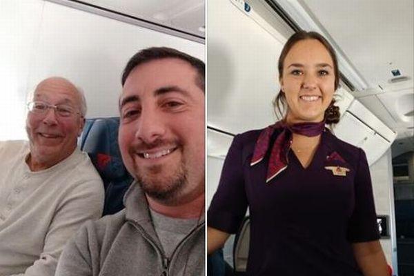 クリスマス・イブに仕事をするCAの娘のため、同じ飛行機に乗った父親が素敵