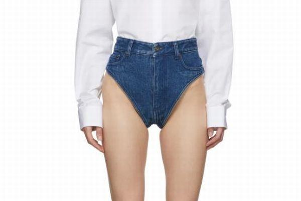 実際に販売されている女性用下着、水着のようなジーンズが斬新すぎる!