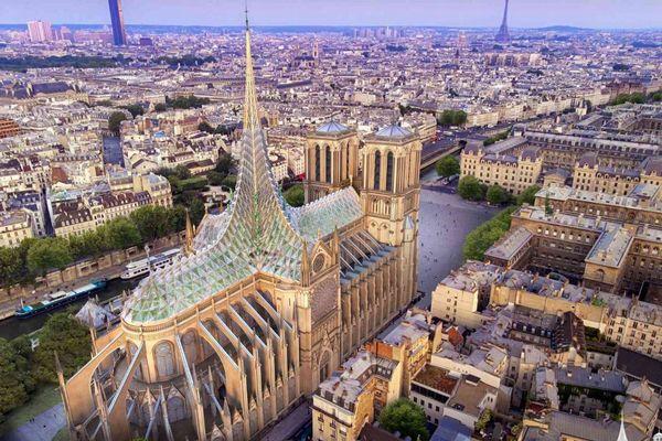 新しいノートルダム大聖堂は環境に優しい?提出されたデザイン案が斬新