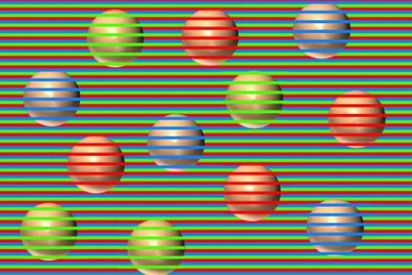 このボールは何色に見える?目の錯覚を利用した画像が不思議