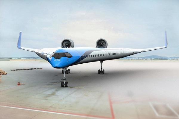 """座席は翼内に!従来よりも燃費の良い""""V字型""""飛行機の開発にKLMオランダ航空が出資"""