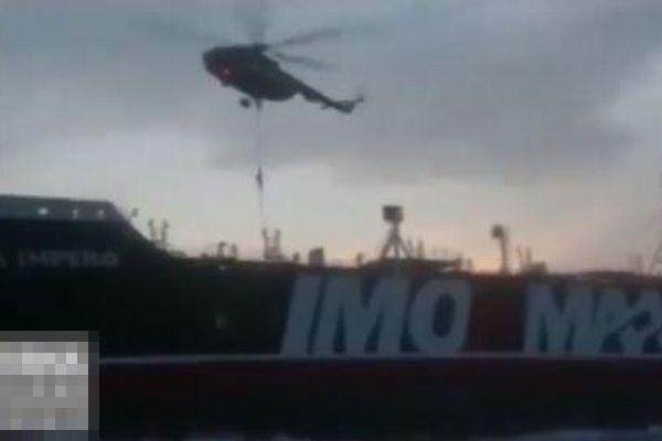 イラン革命防衛隊が英タンカーを拿捕、その瞬間の映像が公開される