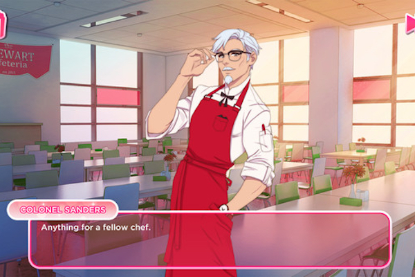 KFCがカーネル・サンダースを口説き落とすオフィシャル恋愛ゲームをリリース