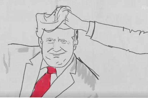 トランプ大統領、次期選挙に向けて奇怪なポジティブアニメを公開