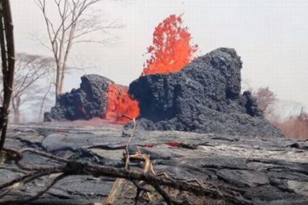 ハワイで庭にできた溶岩チューブの穴に落下し、高齢者の男性が死亡