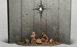 バンクシーの新作、キリスト生誕を表した作品がパレスチナのホテル内に登場