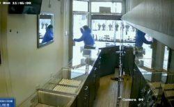 宝石店の店内に閉じ込められた強盗たち、パニックに陥る動画が話題に