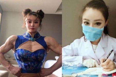 逞しい筋肉を持つ美しすぎる中国人の女医、新型肺炎の最前線で戦う