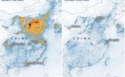 新型コロナウイルスの影響で、中国の大気汚染レベルが劇的に低下