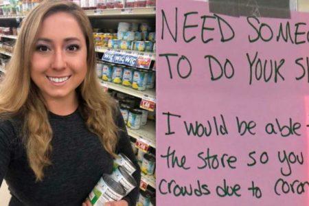 新型コロナの感染リスクが高い高齢者のため、買い物を代行する女性が話題に