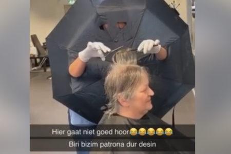 【オランダ】美容師さんの傘を使ったコロナウイルス対策がSNSで話題