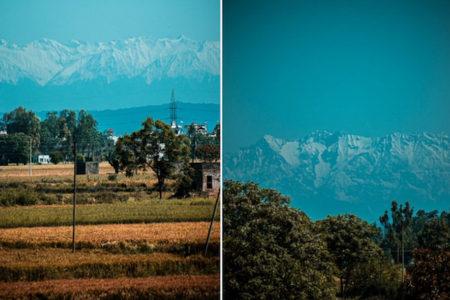 【インド】ロックダウンのおかげ? 200km離れたヒマラヤが、街から見えるようになった