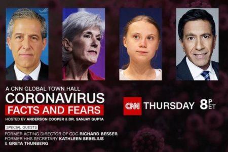 新型コロナの対話集会にグレタさんを招待、CNNの選択に疑問の声