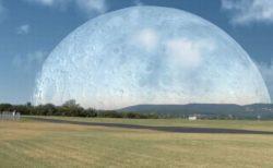 空を覆い尽くすほど巨大に…月が近づいた場合を想定した動画が楽しい