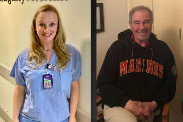 新型コロナの最前線で働く看護師、37年前の火災で救出してくれた消防士と再会へ