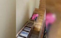 子供たちも大喜び!米の父親が自宅の階段に高速スライダーを作っちゃった