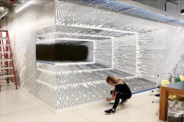 2次元なのに3次元、数学から転向した女性アーティストが作る不思議作品