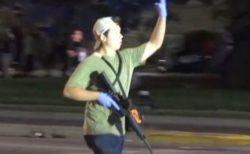 黒人銃撃事件のデモ参加者に向け、17歳の男がライフルを発砲、2人死亡【動画】