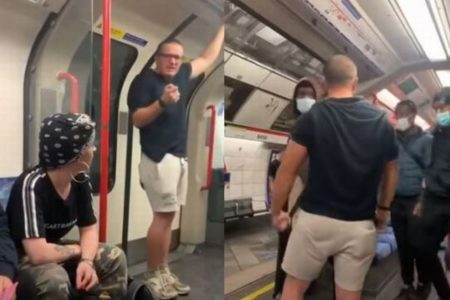 「お前たちはペットだ!」英の地下鉄で叫んだ人種差別主義者、黒人に殴られノックダウン