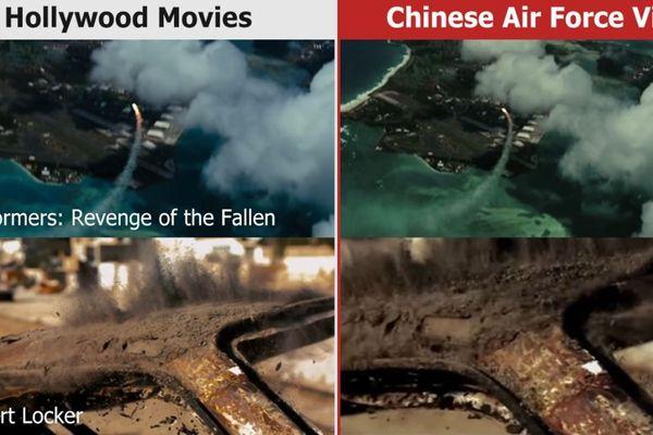 中国空軍が米軍基地を攻撃する動画、実はハリウッドの映像が使われていた