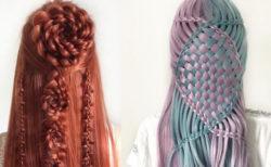 ドイツの17才が考案した複雑なヘアスタイルが見事