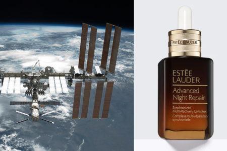 NASA宇宙飛行士の新しい任務は、エスティローダー美容液の広告ビデオ撮影