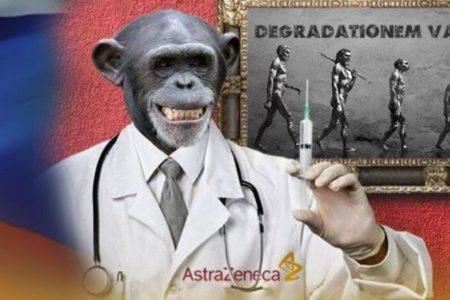 「英の新型コロナ・ワクチンを打つと猿になる」ロシアでフェイクニュースが広まる
