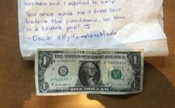 暴動で壊された歴史博物館に、ホームレス男性がなけなしのお金を寄付