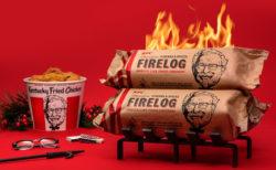 KFCが部屋をフライドチキンの匂いで満たす薪を発売