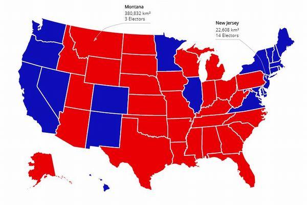 米大統領選挙、テレビとは異なる「リアル選挙マップ」で見えてくるものとは?