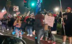 カリフォルニア州で夜間外出禁止令、それを無視し道路上には抗議する人々が集結