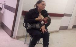 病院で泣く栄養失調の乳児に母乳を与えたのは、警備中の女性警官だった