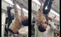 パキスタンに初めて開通した地下鉄が、器械体操の場になってしまう