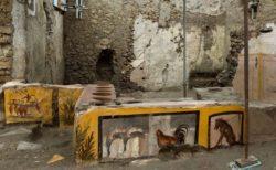 ポンペイの遺跡からファーストフード店を発見、鶏肉やカタツムリも食べていた?