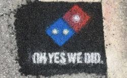 米ドミノピザが道路補修工事を開始、配達中の型崩れを防ぐため