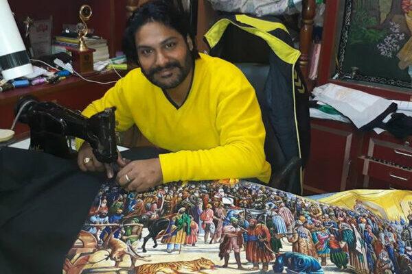 ミシンで絵を描くインド人の画家、その芸術性に圧倒される