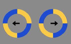 回転する円が逃げ出そうとする錯視動画、ネットで話題