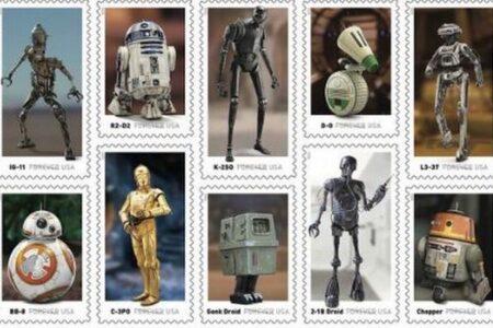 米郵便公社が『スターウォーズ』に登場したロボットの切手を発売予定
