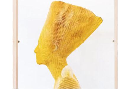 6000匹の蜂に助けられ、蜂の巣で彫像を作るスロバキアのアーティスト