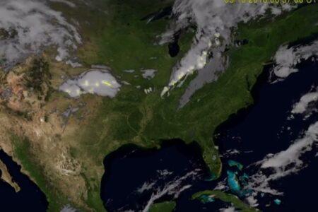 雷雲を宇宙から見ると…アメリカ海洋大気庁の最新映像が美しい