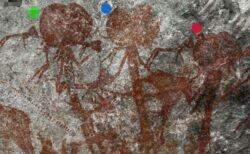 異常に大きな頭をした人間のような岩絵、タンザニアの遺跡で発見