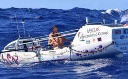 英の女性が手漕ぎボートで大西洋を横断、最年少記録を塗り替える