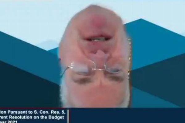 リモート会議で再びハプニング、米下院議員が逆さまの顔で話し続けてしまう