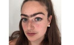 顔の毛を剃らないライフスタイル、一本眉の女性がインスタで話題