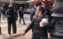 アジア系のおばあちゃん、突然路上で男に殴られるも反撃【サンフランシスコ】