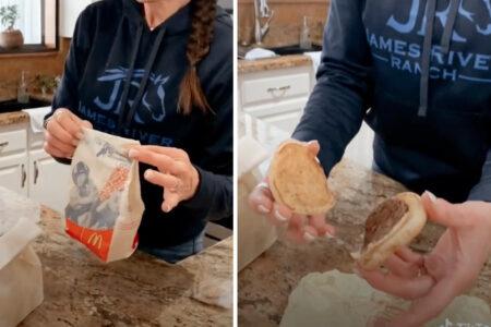 マックのチーズバーガーとフライポテトを17年間保存した女性、結果をTikTokで公開