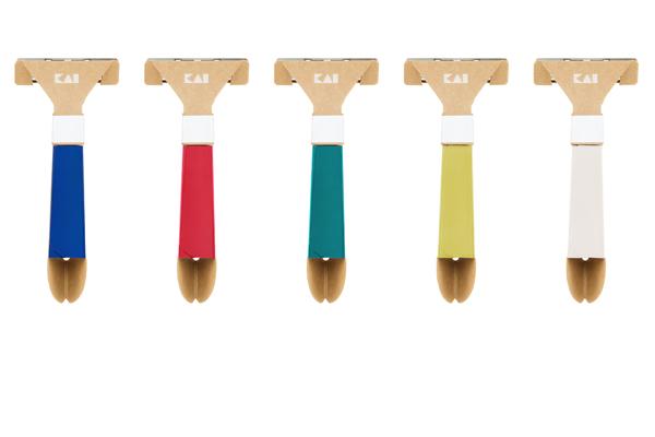KAIが世界で初めて組み立て式「紙カミソリ」を発売